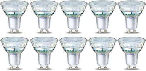 AmazonBasics Spot LED type GU10, 3.5W (équivalent ampoule incandescente de 35W), verre -