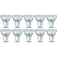 AmazonBasics GU10 LED Lampe, Spot, 4.6W (ersetzt 50W), klar, 10er-Pack