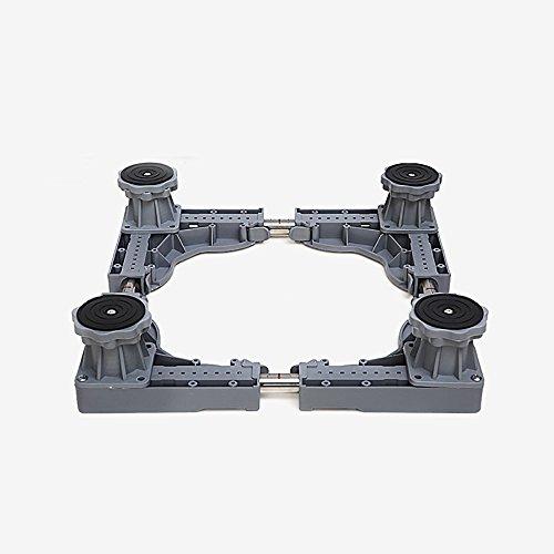 WYDM MultiWare Justierbare Rollenlaufkatze-Universalwaschmaschine-spezielle Unterseite für Haushaltsgeräte (Farbe : Gray)