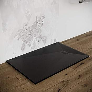 100 x 80 cm colore: bianco Glasdeals quadrato Piatto doccia extra piatto 50 mm