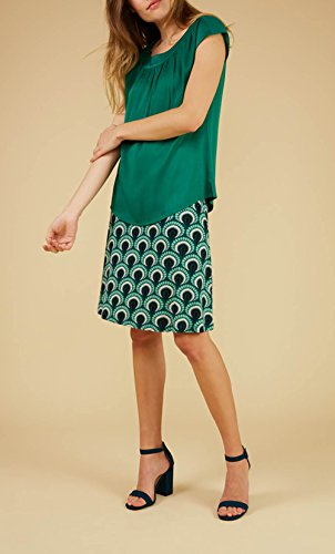King Louie Rock BORDER SKIRT PEACOCK rock green rock green