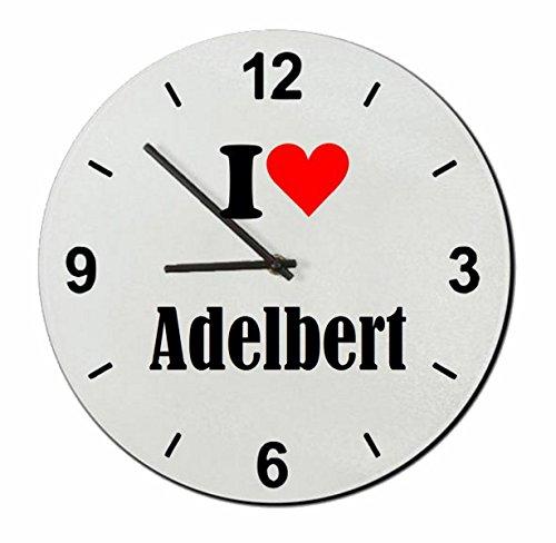 """Exklusive Geschenkidee: Glasuhr """"I Love Adelbert"""" eine tolle Geschenkidee die von Herzen kommt- Uhr- Weihnachts Geschenktipp"""