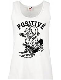 lepni.me Camisetas Sin Mangas Para Mujer Positivo - Ropa de Skateboard, Para Patinadores
