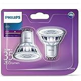 PHILIPS Spot LED 3,5-35W GU10, blanc, intensité variable - L'unité