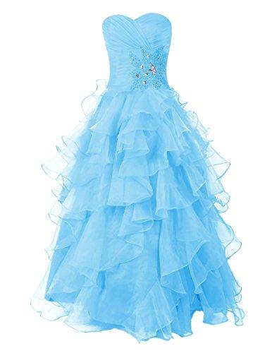 Dresstells, robe de cérémonie organza, robe de soirée, robe de bal col en cœur sans bretelles Noir