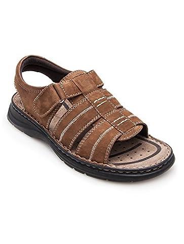 Gepolsterte leder-sandalen für männer Sport und komfortabel