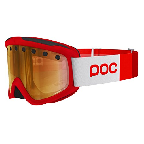 POC Skibrille Iris Stripes, Glucose Red, Regular