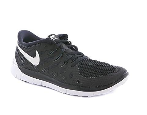 Nike NIKE FREE 5.0 (GS) BLACK/SLVR-WHITE-LGHT ASH GRY - 6