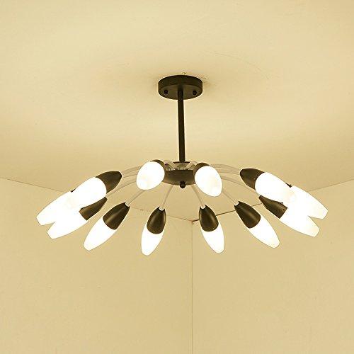 Bild Sexy Ideen (SEXY- Nordischen Stil Postmodern Einfache Idee Schwarz-Weiss Eisen Leuchter Wohnzimmer Restaurant Studie Lampen 6/12-Lampe ( Farbe : Schwarz-12-lights)