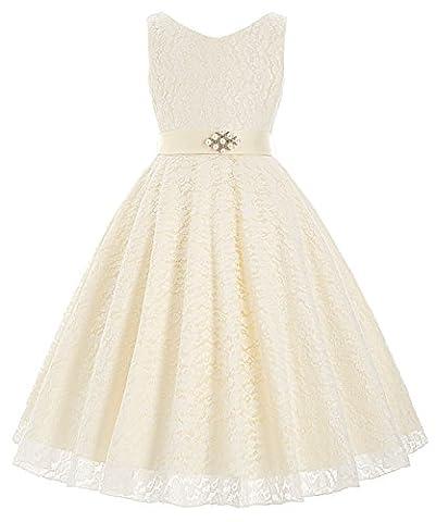 Fille Princesse Robe de Fête Col V sans Manches 8~9 Ans FR8938-3