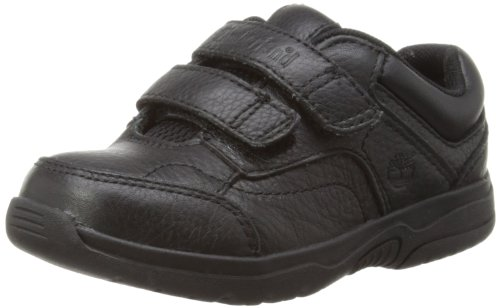 Timberland Ek Park Street Hook and Loop Oxford, Baskets mode garçon Noir (Black)
