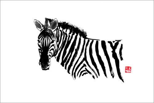 Posterlounge Lienzo 180 x 120 cm: Zebra Péchane -