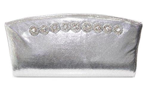 Wear & Walk UK ,  Damen Knöchel-Riemchen Bag-Silver