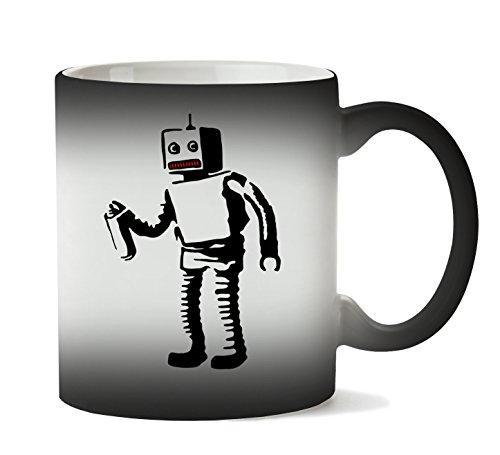 MugWorld Banksy Robot Red Tooth Tasse Hitze Farbwechsel