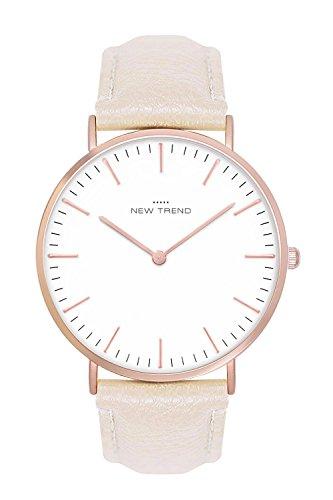 New Trend - Love for Accessories Damen Uhr analog Quarzwerk mit Kunst-Leder-Armband AM-MZZ5-DOI9