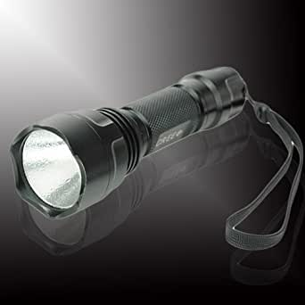 Central World UltraFire C2 Cree XR-E Q5 5-Mode LED Flashlight Torch with Hand Strap(1*18650)