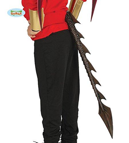 on Schwanz Erwachsene Kinder Horror Halloween braun lang 60cm (World Of Warcraft Kostüme)