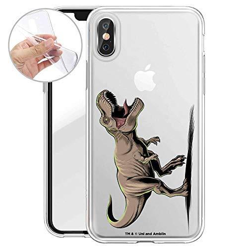 Finoo Hülle für iPhone X/XS - Handyhülle mit Motiv und Optimalen Schutz TPU Silikon Tasche Case Cover Schutzhülle - T-Rex auf der Jagd