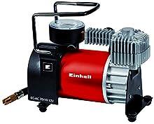 Einhell Auto compressore d'Aria CC 12 V AC 35/10 (0 – 10 Bar di Pressione manometro, capacità 35 Litri al Minuto, Collegamento Tramite Presa accendisigari, Incluso 4 Adattatore supplementari).