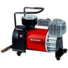 Einhell Car Compressor CC-AC 35/10 12 V, 0-10 Bar Pressure Gauge, 35 Litres Per Minute Flow Rate, Connection via the Cigarette Lighter with 4 Additional Adaptors