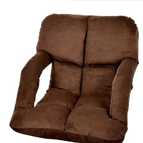stellbarer Boden Stuhl Mit Armlehnen, Gepolsterter Bodensitz Mit Rückenlehne, Kann Als Spielstuhl Oder Als Lesesitz Und Fernseher Verwendet Werden (Farbe : A) ()
