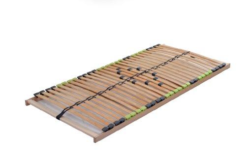 DaMi Lattenrost Basic Zerlegt 160 x 200 cm - 7 Zonen Lattenrahmen Aus Buche Mit 5-Fach Härteverstellung - Starr