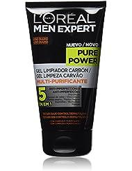 LOréal Paris Men Expert Pure Power Gel Limpiador con Carbón para Pieles Rebeldes -