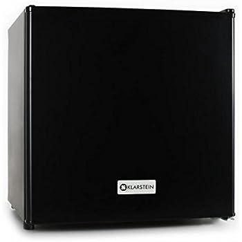 klarstein mini frigo silencieux 50l minibar avec compartiment pour bac glacons acier. Black Bedroom Furniture Sets. Home Design Ideas