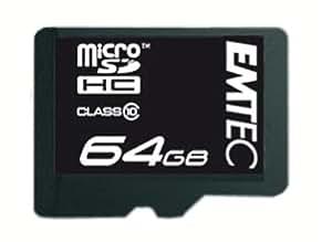 Emtec Carte mémoire Micro SDXC 64 Go Class10