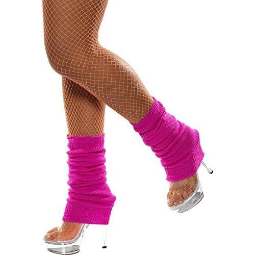 (Pinke Beinstulpen Beinwärmer Bein Stulpen - 80er Jahre Aerobic Stutzen)