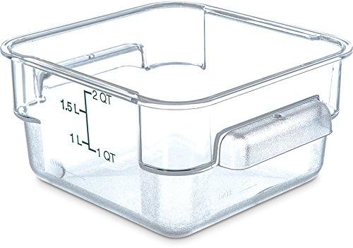 Carlisle 10720-07 Aufbewahrungsbehälter für Lebensmittel, quadratisch, aus Polycarbonat, 18 x 18 x 9 cm, Transparent, 6 Stück Polycarbonat Food Storage Box
