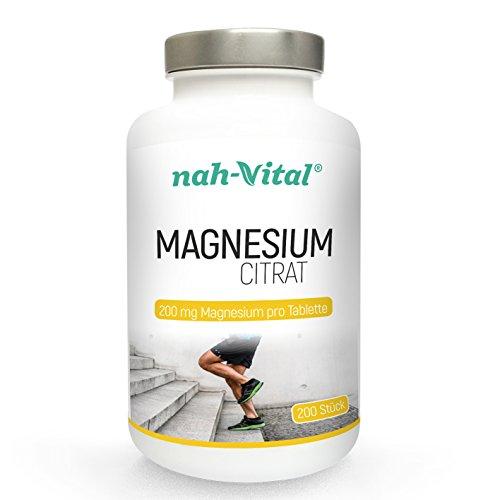 itrat | 200 Tabletten mit je 200mg Magnesium | vegan, kristallzuckerfrei, laktosefrei | geprüfte deutsche Premiumqualität ()