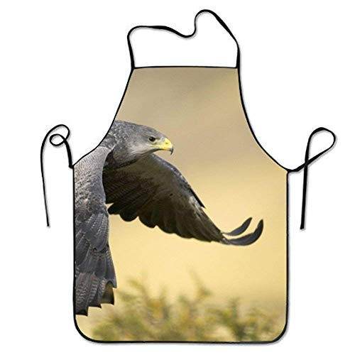 Comfortable Bib Apron Falcon Animal for Restaurant Stitched Edges - Falcon Grill