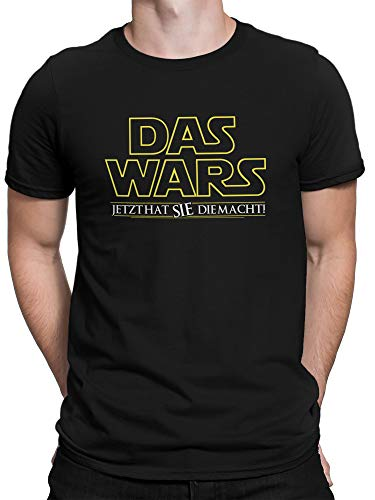 (vanVerden Herren Fun T-Shirt Das Wars Jetzt Hat Sie die Macht Lustige JGA Motto Idee Plus Geschenkkarte, Größe:XXXXX-Large, Farbe:Schwarz)
