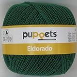 Puppets eldorado 50g Farbe: 6332 - dunkelgrün - Häkelgarn Stärke 16