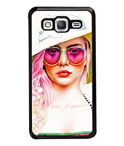 PrintVisa Designer Back Case Cover for Samsung Galaxy Grand Prime :: Samsung Galaxy Grand Prime Duos :: Samsung Galaxy Grand Prime G530F G530Fz G530Y G530H G530Fz/Ds (Crimson Attractive Bright Fashionable Caucasian Cosmetics Beautiful Eyewear)