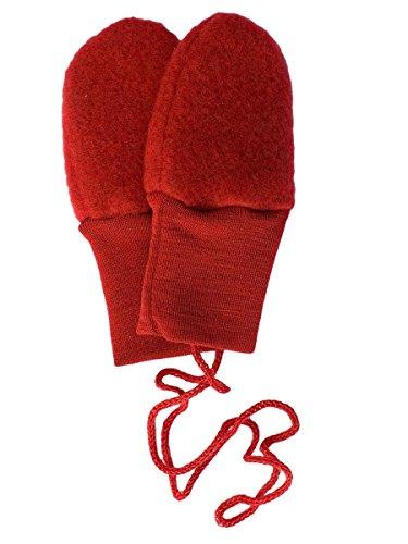 Baby mazo sin Pulgar, forro polar, 100% Lana Virgen (KBT) Rot Melange talla única