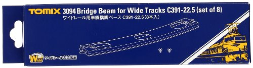 Pier Base (TOMIX N gauge 3094 wide for single track rail bridge pier base C391-22.5 (8 pieces) (japan import))