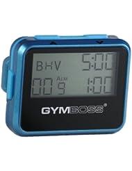 Gymboss Minuteur d'intervalle et chronomètre – COQUE BRILLANT SARCELLE / BLEU