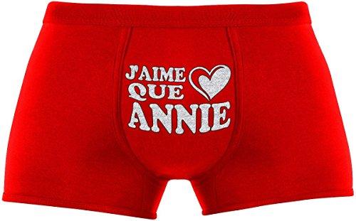 Ideen Annie Kostüm (Les boxers pour hommes | J'aime que Annie | Cadeau anniversaire unique et drôle. Article de nouveauté. Idée)