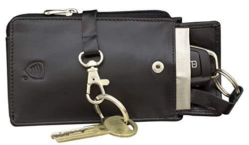 KORUMA KFZ Schlüssel Signal Blocker Case, Keyless Entry FOB Guard Signal blockieren Tasche Tasche, Diebstahl Lock Geräte, Datenschutz Sicherheit (Schwarz) (Schwarz)