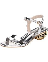 378fa6456bf9e Lolittas Women Ladies Sandals Summer Sliver Gold Sandals