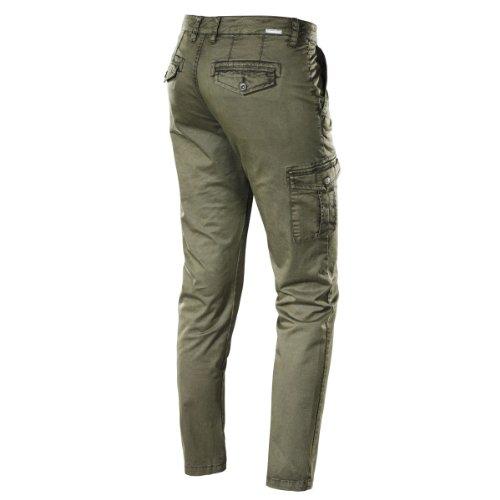 Timezone Damen Hose Normaler Bund, 16-0049 Rike cargo pants Grün (4113 melly green)