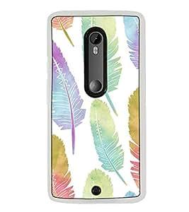 Fuson Designer Back Case Cover for Motorola Moto X Style :: Moto X Pure Edition (bird feather pankh morpankh lovely)