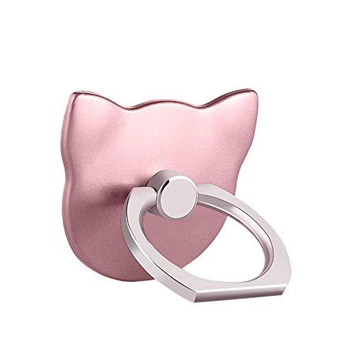 MuStone Soporte para anillo de dedo para teléfono celular, soporte universal para teléfono, soporte de montaje para iPhone XS X 8 7 6 6S 5 5C 5S, Samsung Galaxy S9 S8 S7Edge S7 S6 Nota 8 5 (Oro rosa)