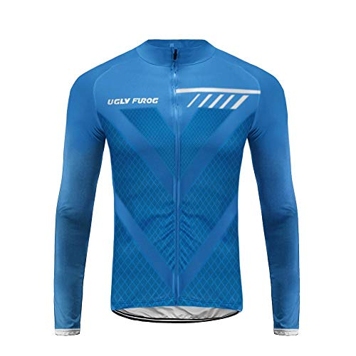 Uglyfrog MA06 2018 Winter Jersey Thermisches Fahrradtrikot Vlies Thermo Langarm Shirt Herren...