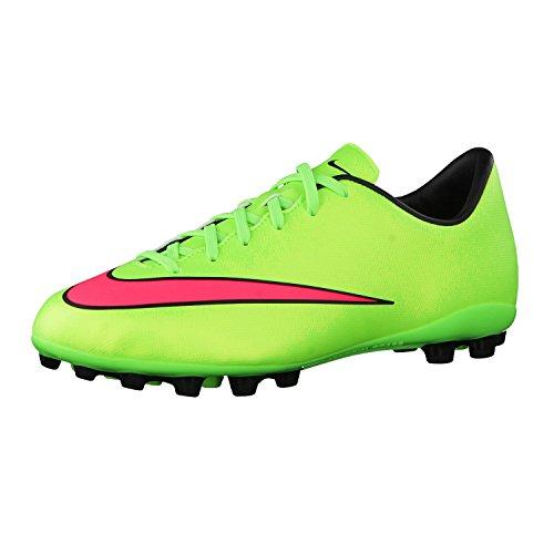 Nike Jr. Mercurial Victory V AG, Chaussures de football pour compétition mixte enfant Vert (elctrc Green/hypr Pnch-blk-vlt 360)