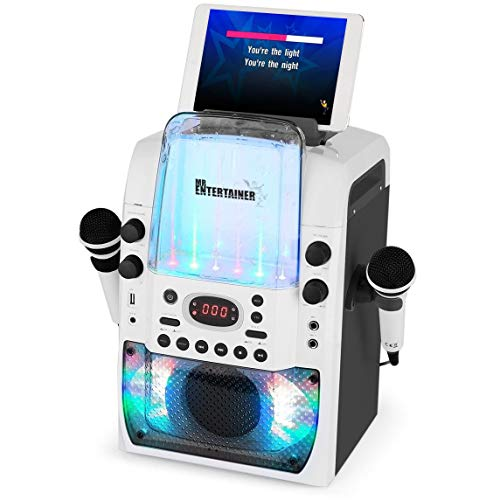 Macchina per karaoke Bluetooth CDG / MP3G / USB. Luci da discoteca incorporate. 240 canzoni. 2 microfoni