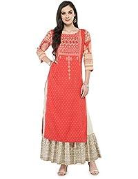 Varanga Pink Printed Kurta with Ivory Printed Skirt KFF-VAR118159_PZ21033