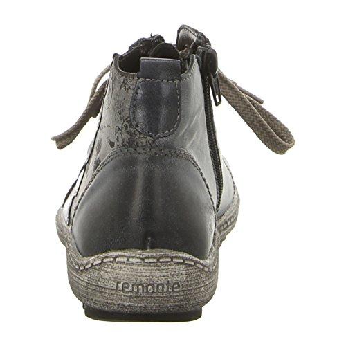 Remonte Damen R1474 Hohe Sneaker Blau (Whitelake/Ozean/Asphalt/Ozean)
